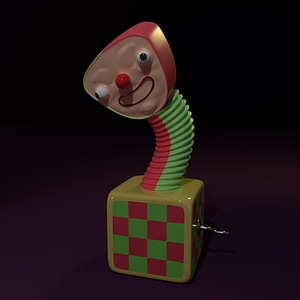 Jack in the box toy 3D Model