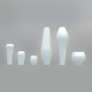 Set of Vases 3D Model