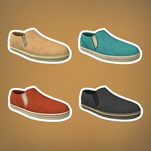 Slip on Shoes 3D Model
