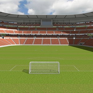 Soccer Stadium Full 3D Model