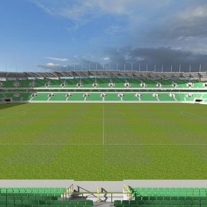Football Stadium 3D Model