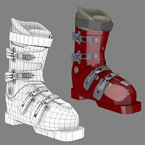 Alpine Ski Boot 3D Model