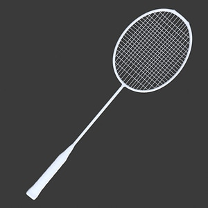Badminton Racquet 3D Model