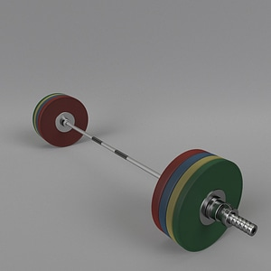 Olympic Barbell 3D Model