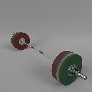 Olympic Barbell 3D Model