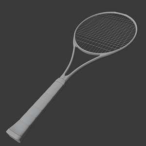 Tennis Raquet 3D Model
