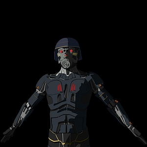 Cyborg Villain from Deadstar 3D Model
