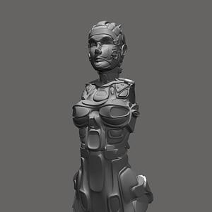 Humanoid Future Suite 3D Model