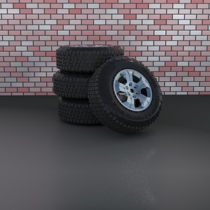 Stack of Tires 3D Model