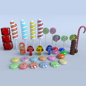 Sweet Candy Pack 3D Model