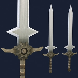 Long Sword of the Knight 3D Model