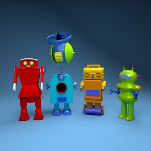 Toy Robots 3D Model
