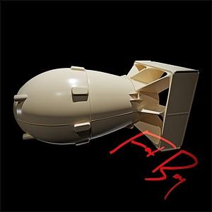 Fat Boy Atomic Bomb 3D Model