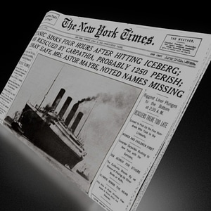 Folded Newspaper 3D Model