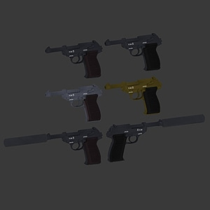 Walther Set 3D Model