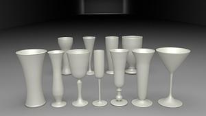 11 Glasses 3D-Modell