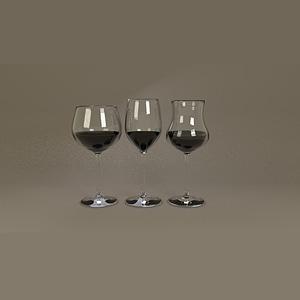 Wine Glass Set 3D Model