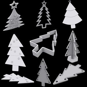 Christmas Tree Ornaments 3D Model