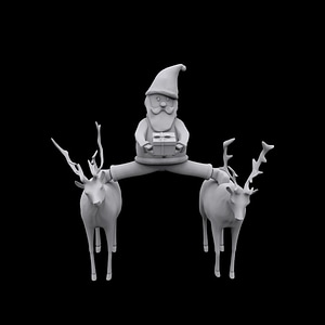 Santa Epic Split 3D Model