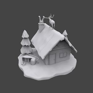 Santa is Stuck 3D Model