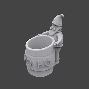 Santa Pencil Holder 3D-Modell