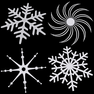 Set of Snowflakes 3D-Modell