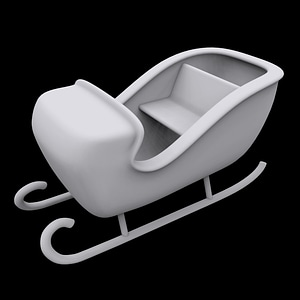 Sleigh Ornament 3D Model