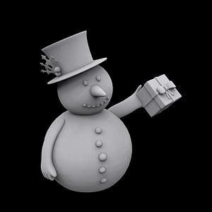 Snowman Gift 3D Model