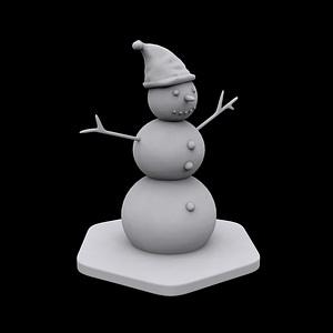 Snowman modelo 3D