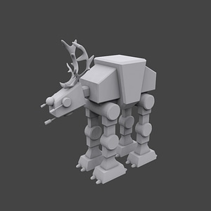 Star Wars Walker reindeer 3D Model
