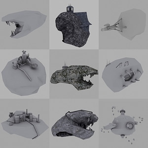 Asteroid Bases and Outposts 3D Model