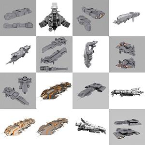 Battleships 3D Model