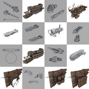 Cargo Spaceships3Dモデル