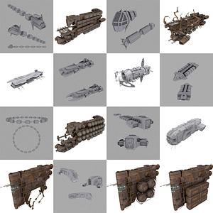 Cargo Spaceships 3D Model