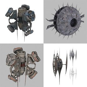 Defensive Space Devices 3D-Modell