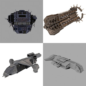 Military Transport Ships 3D-malli