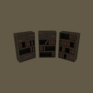 Bookshelf 3D-model