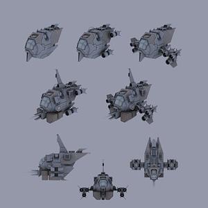 Modular Spaceship3D模型