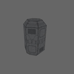Spaceship Container 3D Model