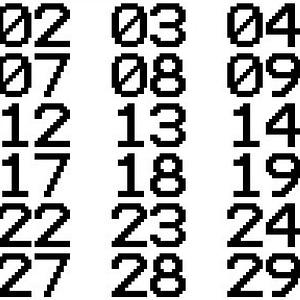 TERMINAL Font Numbers (01-30) 3D Model