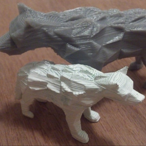 Low Poly DireWolf 3D Model
