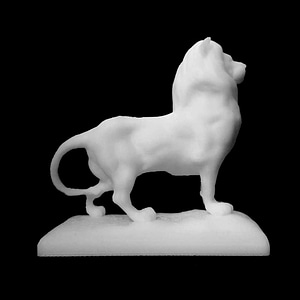Lion at the base of the Columbus Monument in Barcelona, Spain 3D Model