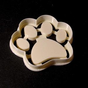 Dog Footprint Cookie Cutter 3D Model