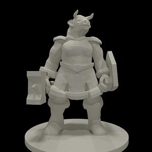 Female Minotaur 3D Model