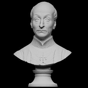 Portrait of Domenico Bertini 3D Model