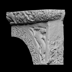 Architectural fragment from the pulpit of Sant'Ambrogio 3D Model