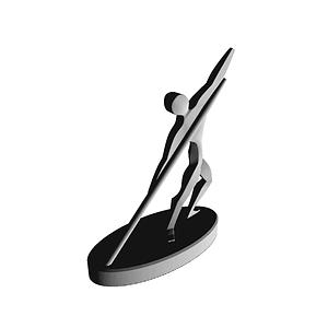 Athletic Statue 3D Model