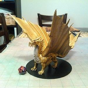 Gold Dragon 3D Model