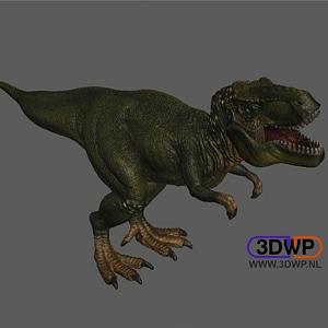 Tyrannosaurus Rex Figurine 3D Model