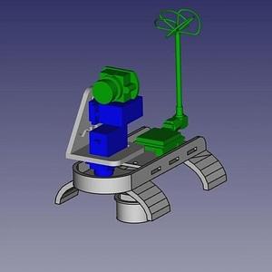 Glider FPV mount 3D Model